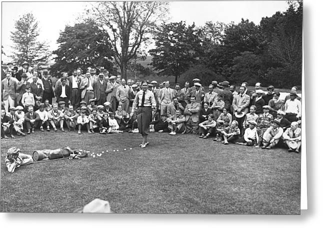 Bobby Jones Golf Demonstration Greeting Card