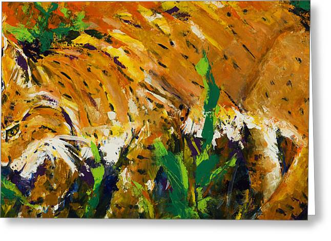 Bobcat Greeting Card by Mary DuCharme