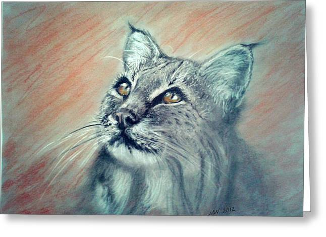 Bobcat Greeting Card by Michelle Wolff