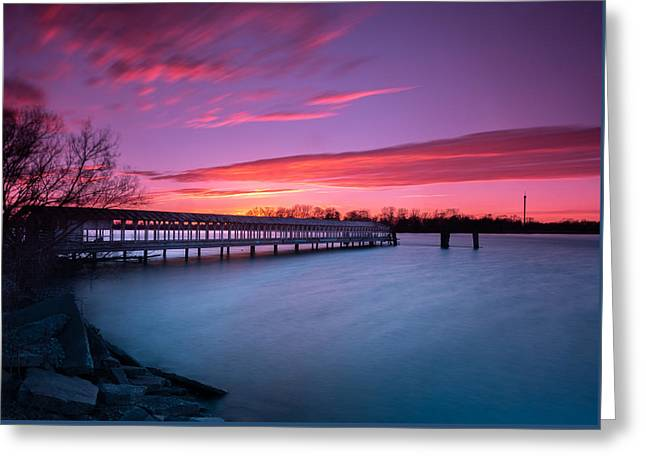 Boblo Ferry Dock  Greeting Card by Cale Best