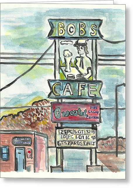Bob's Cafe Greeting Card