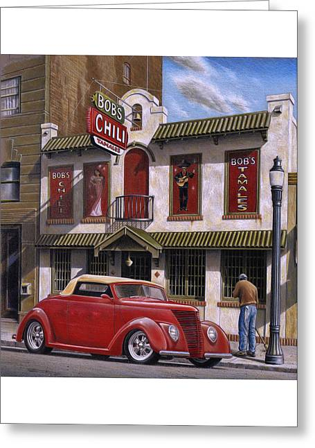 Bob's Chili Parlor Greeting Card by Craig Shillam