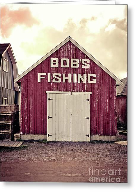 Bob's Fishing North Rustico Greeting Card by Edward Fielding