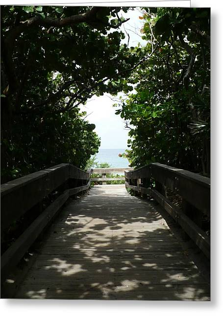 Boca Beach Boardwalk Greeting Card