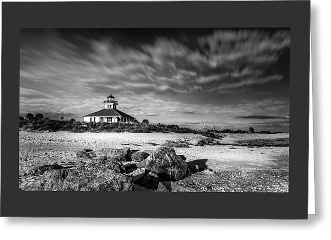 Boca Grande Florida Bw Greeting Card by Marvin Spates