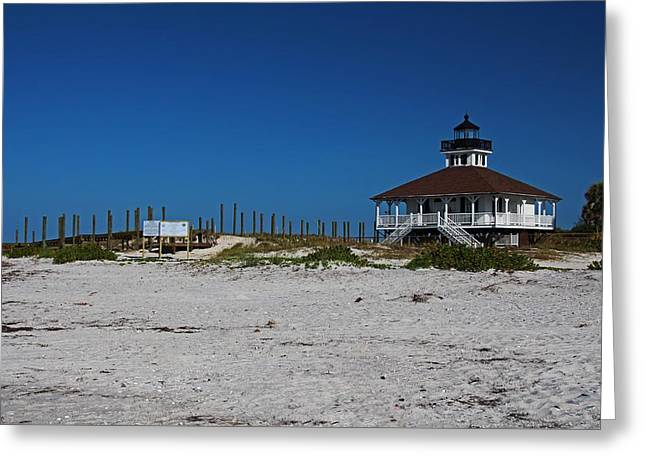 Greeting Card featuring the photograph Boca Grande Lighthouse Ix by Michiale Schneider