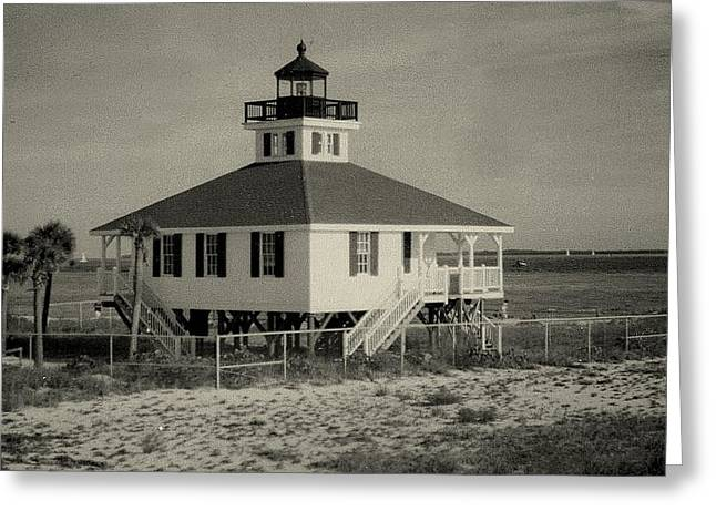 Boca Grande Lighthouse Greeting Card by Lois Lepisto