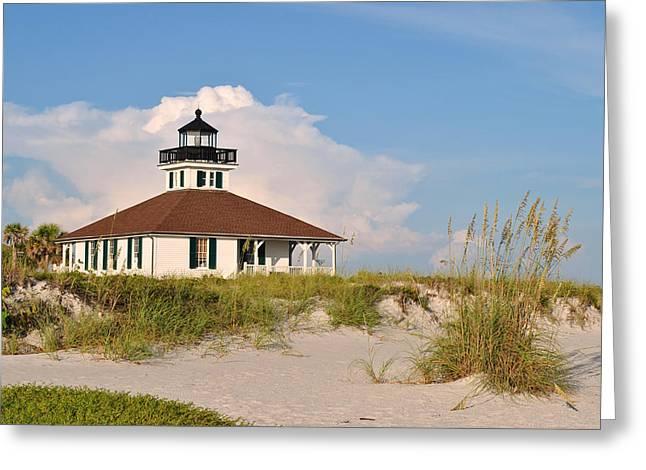 Boca Grande Lighthouse Greeting Card by Steven Scott