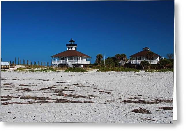 Greeting Card featuring the photograph Boca Grande Lighthouse X by Michiale Schneider