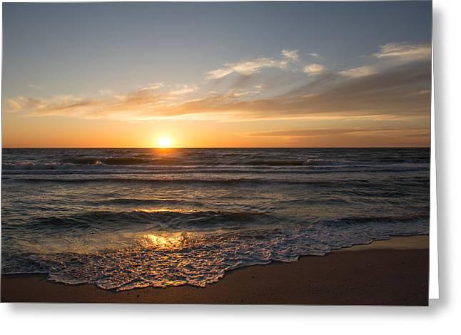 Boca Grande Sunset Greeting Card by John Black