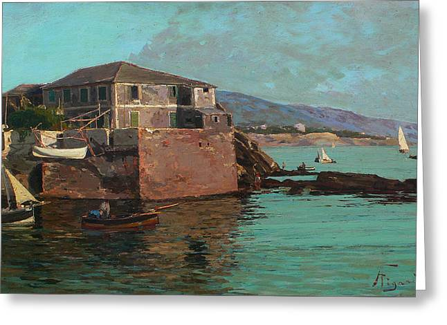 Boccadasse Greeting Card by Andrea Figari