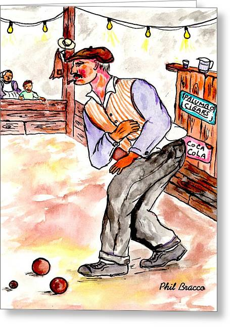 Bocce King Greeting Card