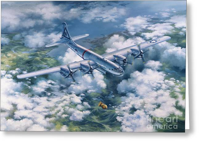 Dawn Of A Thousand Suns - Bockscar Over Nagasaki Greeting Card by Randy Green