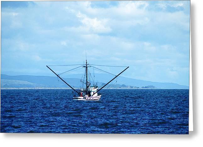 Fishing Boats Greeting Cards - Bodega Bay Fishing Boat Greeting Card by Catherine Geernaert