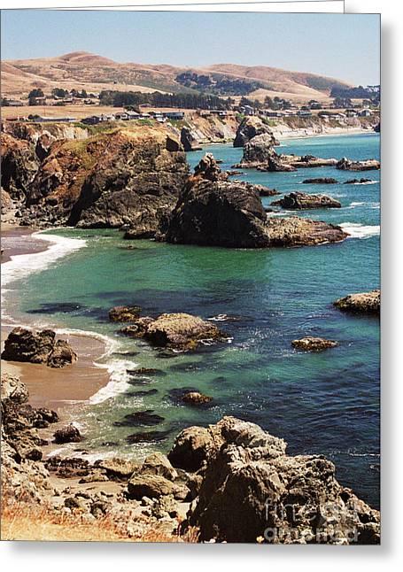 Bodega Bay From Duncan's Landing Greeting Card by Alberta Brown Buller