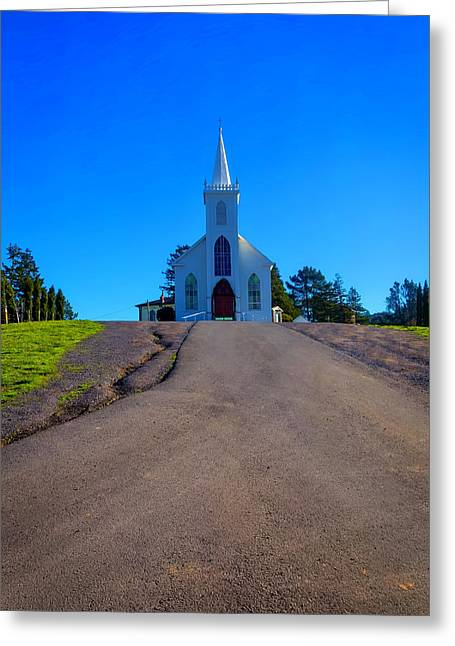Bodega Church At Top Of Hill Greeting Card