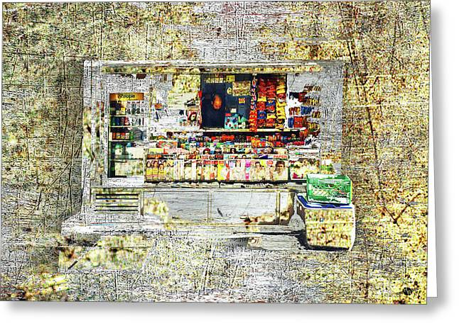 Bodega In Steel And Bronze. Greeting Card
