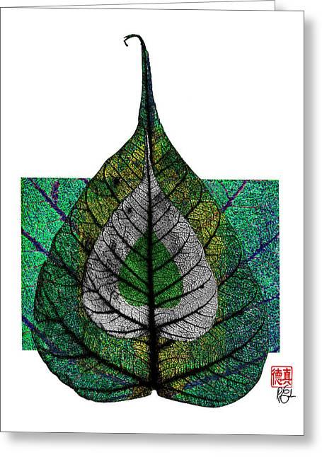 Bodhi Leaf Greeting Card