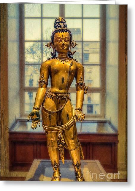 Bodhisattva Avalokiteshvara Greeting Card by Adrian Evans