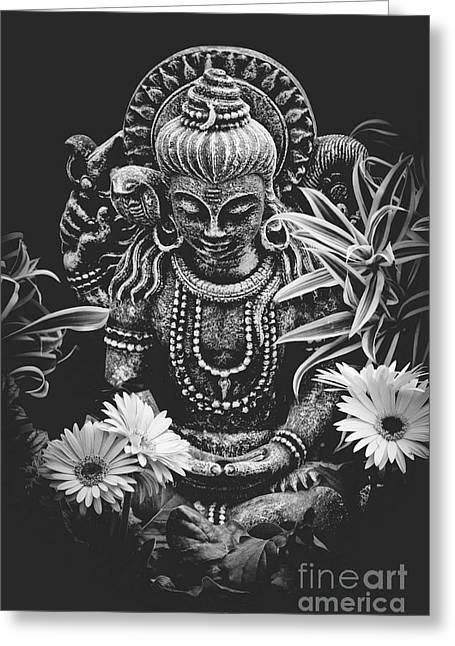 Bodhisattva Parametric Greeting Card by Sharon Mau