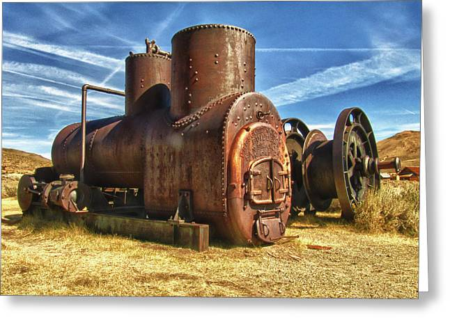 Old Boiler Bodie State Park Greeting Card by James Hammond