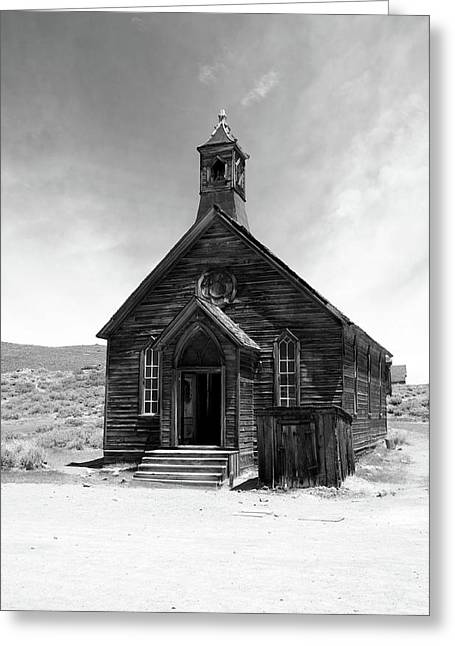 Bodie Church Greeting Card by Michael Courtney