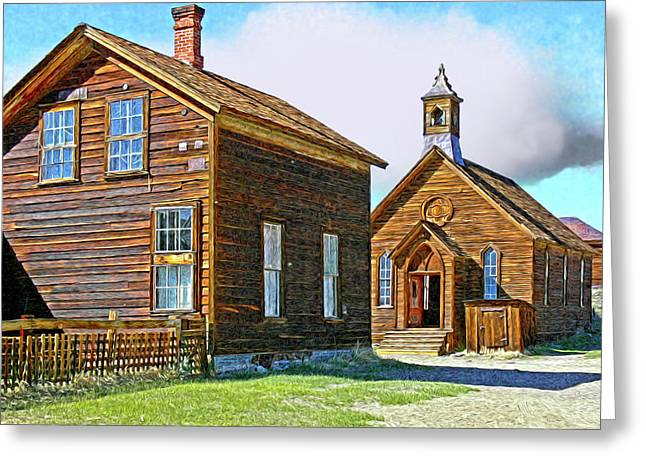 Bodie Church Stylized Eastern Sierra Photo Greeting Card