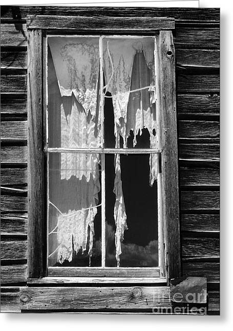 Bodie Ghost Town Greeting Card by Sandra Bronstein