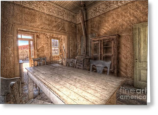 Bodie Harvest Table Greeting Card by Rich Governali