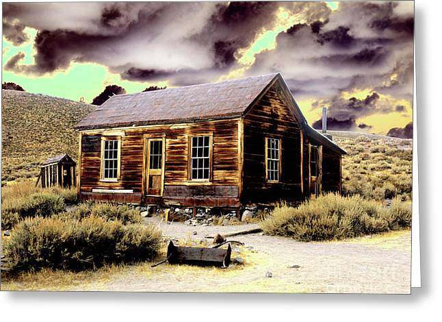 Greeting Card featuring the photograph Bodie House by Jim and Emily Bush