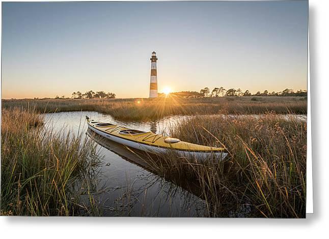 Bodie Island Kayak Greeting Card