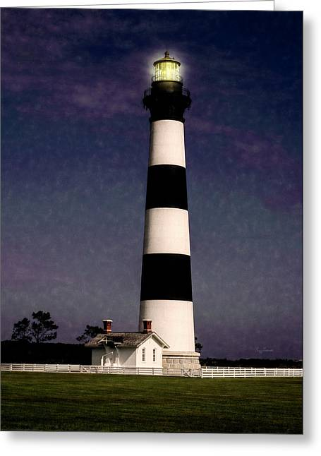 Greeting Card featuring the photograph Bodie Island Light Station by Penny Lisowski