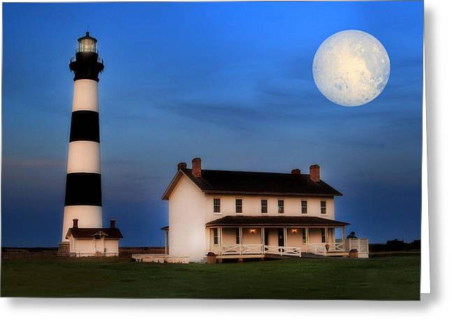 Bodie Island Lighthouse Greeting Card by Cindy Haggerty
