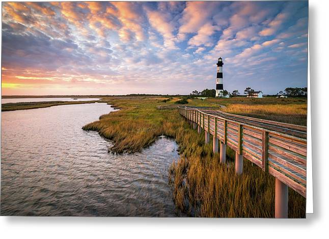 Bodie Island Lighthouse Outer Banks North Carolina Obx Nc Greeting Card
