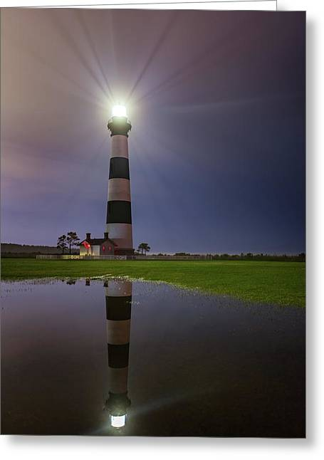 Bodie Island Lighthouse Reflection Greeting Card