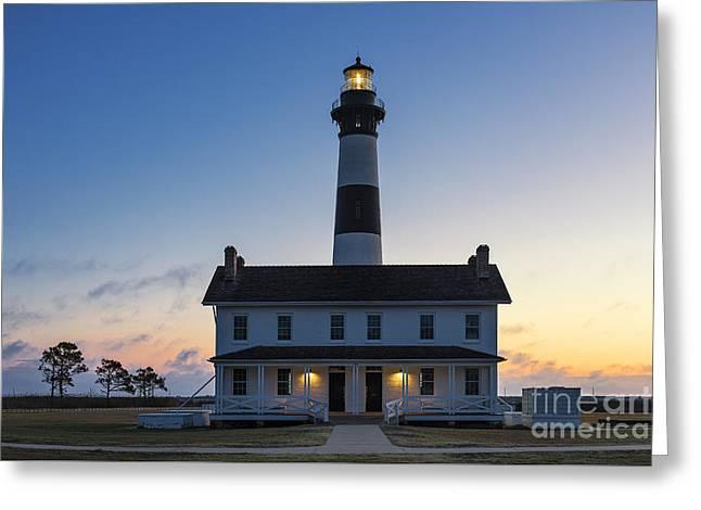 Bodie Island Lighthouse Sunrise Greeting Card