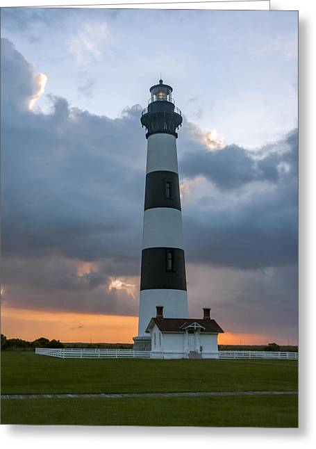 Bodie Island Lighthouse Sunset Greeting Card