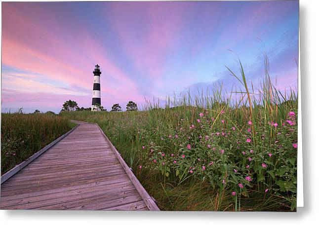 Bodie Island Obx Sunrise Greeting Card by Mark VanDyke