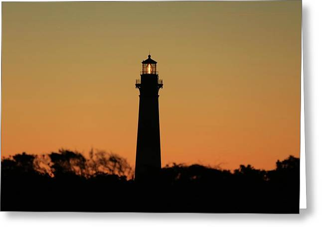 Bodie Light At Sunset Greeting Card