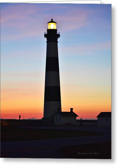 Bodie Lighthouse At Sunrise Greeting Card