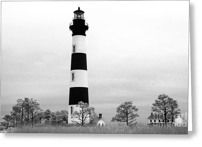 Bodie Lighthouse Greeting Card by Jeff Holbrook