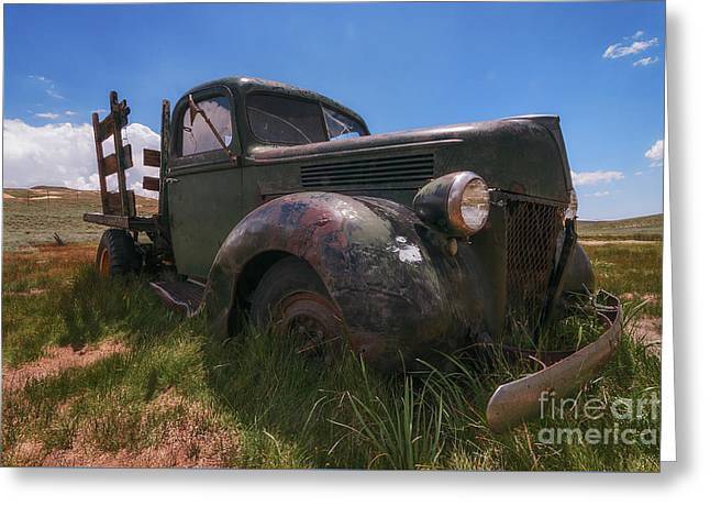 Greeting Card featuring the photograph Bodie Truck by Sharon Seaward
