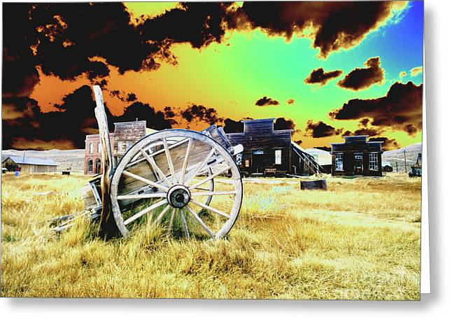 Greeting Card featuring the photograph Bodie Wagon by Jim and Emily Bush
