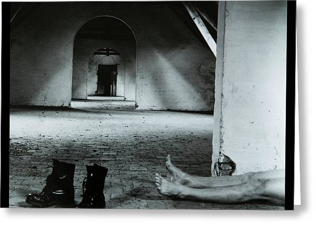 Body On The Attic Greeting Card by Dirk Ercken