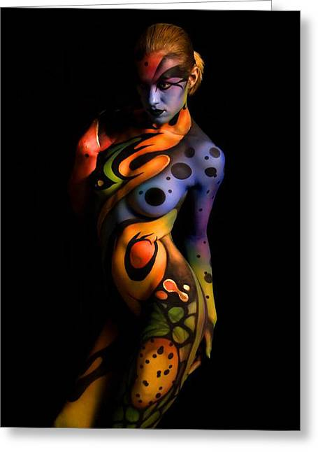 Body Paint X Greeting Card by Tbone Oliver