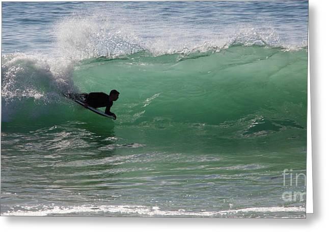 Body Surfer Greeting Card