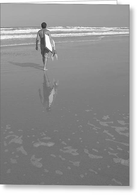 Bodyboarding In Black And White 2 Greeting Card by Mandy Shupp