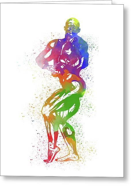 Bodybuilder Watercolor 2 Greeting Card