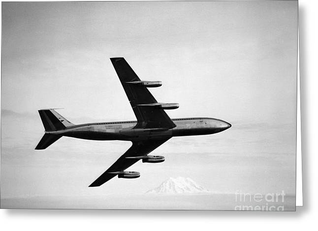 Boeing 707 Jet Airplane Greeting Card by H. Armstrong Roberts/ClassicStock