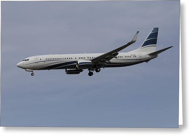 Boeing 737 Private Jet Greeting Card by David Pyatt